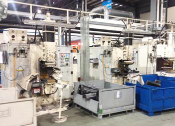 安嘉电容储能式凸焊机本特勒现场