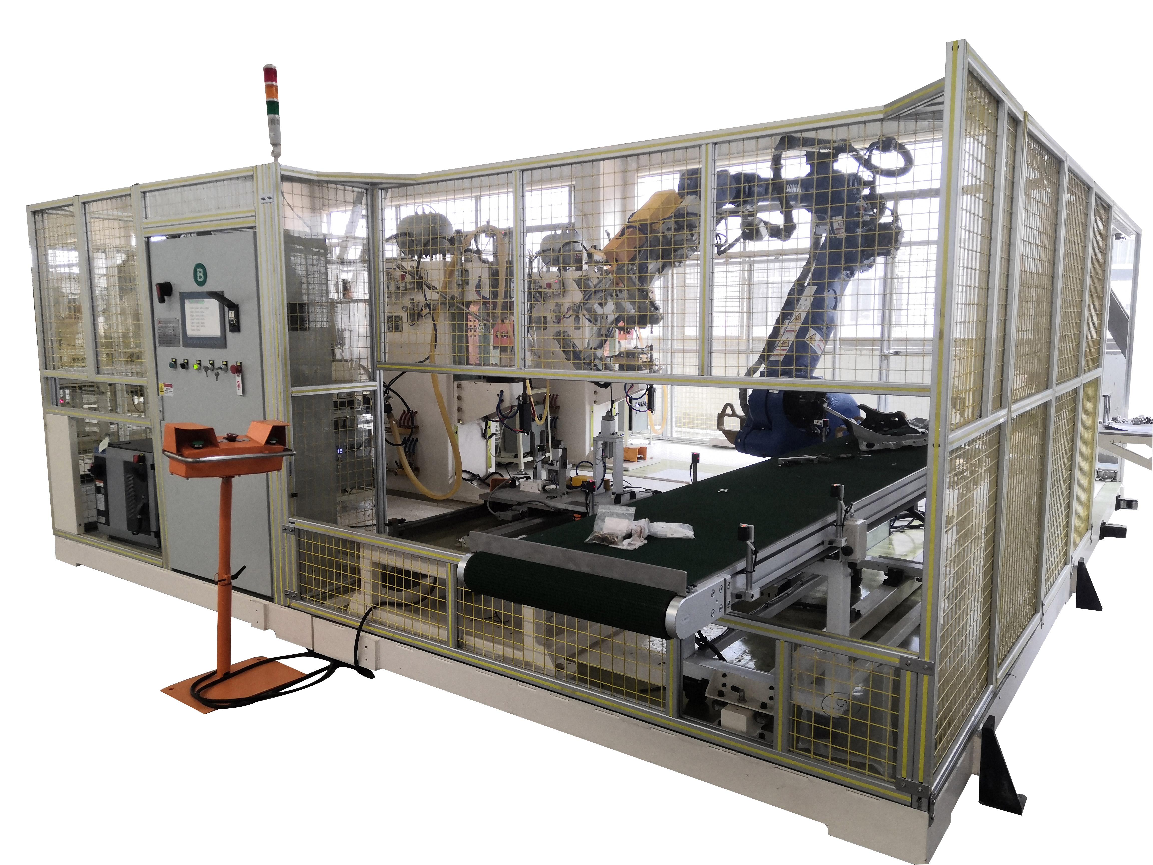 新能源汽车部件全自动点凸焊工作站项目介绍