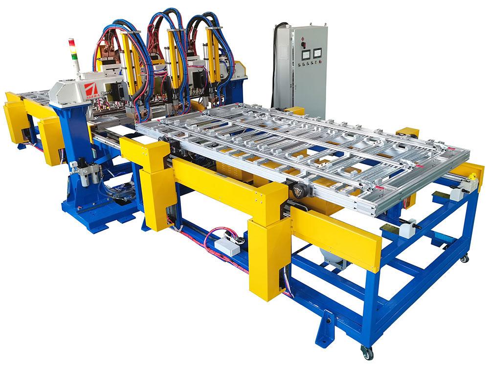 镀锌托盘龙门自动点焊机定制项目介绍
