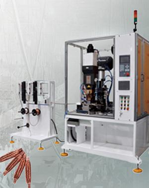 铜编织线自动焊接剪切机