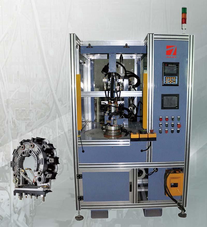 发电机线圈连接线中频点焊专机