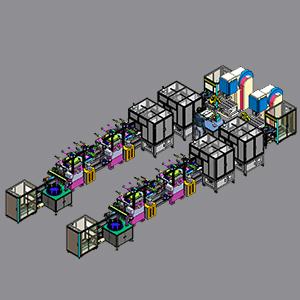 手机均温板自动点焊生产线