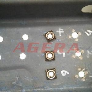热成型钢螺母凸点焊样品