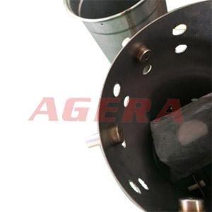 工程车辆柴油尾气感应桶环凸焊样品