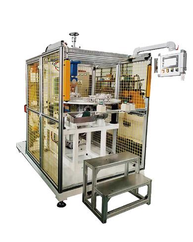 压缩机壳体支架四工位凸焊机