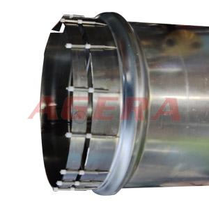 尾气处理器不锈钢管连接件点焊样品