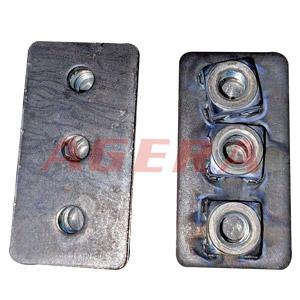 黑皮铁板M8螺母点凸焊样品