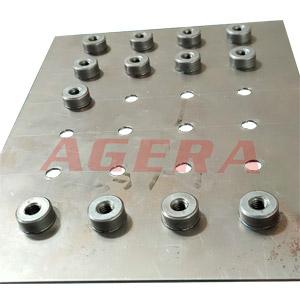 镀锌板M6圆螺母环凸焊样品