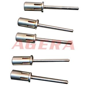 不锈钢打磨芯棒环凸焊样品