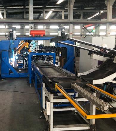 全自动管桩端板法兰机器人焊接线